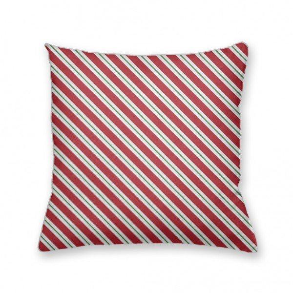 Almofada Decorativa Own Listras Vermelhas e Brancas