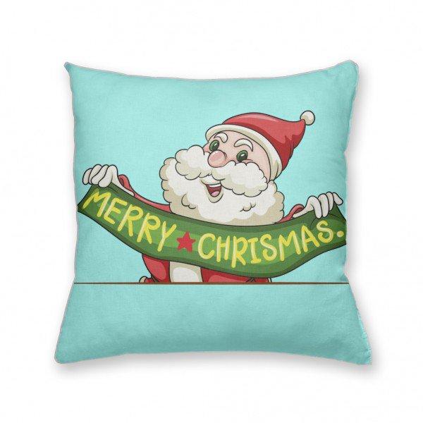 Almofada Decorativa Own Papai Noel Merry Christmas