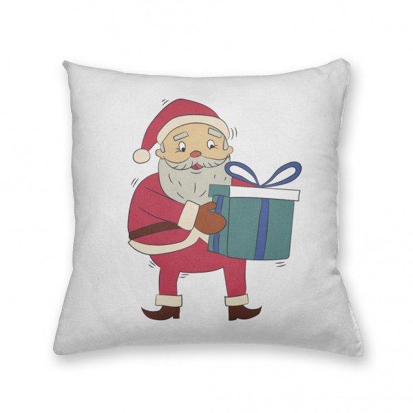 Almofada Decorativa Own Papai Noel Segurando Presente