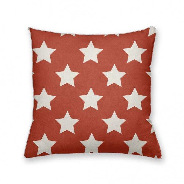 Almofada Decorativa Own Vermelha com Estrelas