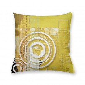 Almofada Decorativa Own Amarelo Abstrato