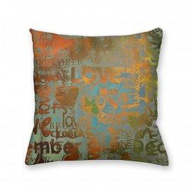 Almofada Decorativa Own Abstrato Palavras
