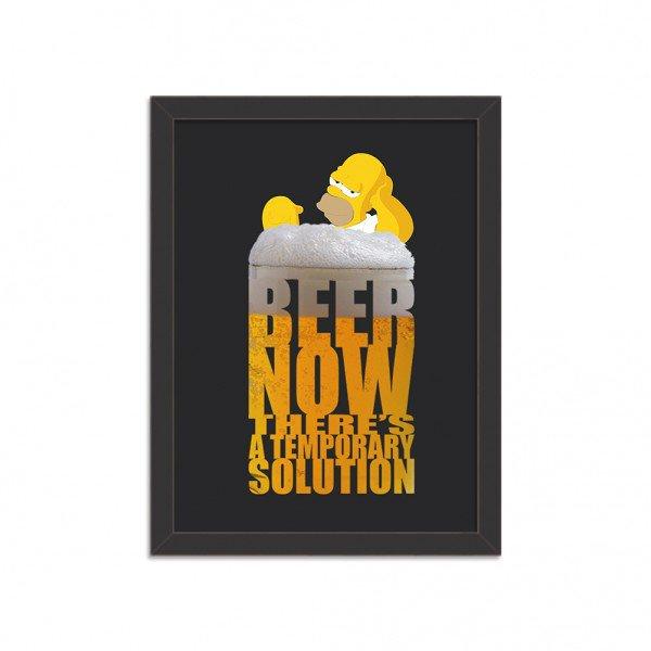 Quadro Decorativo Homer Simpson Beer Now