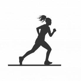 Escultura de Mesa Adorno Corredora Maratonista Preto