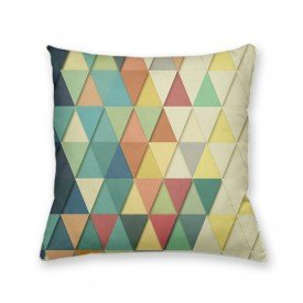 Almofada Decorativa Own Geométrica Triângulos Degradê de Cores