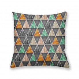 Almofada Decorativa Own Geométrica Triângulos Cinza