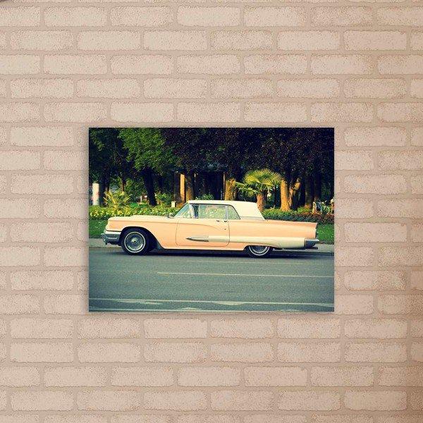 Placa Decorativa em MDF Carro Antigo de Luxo