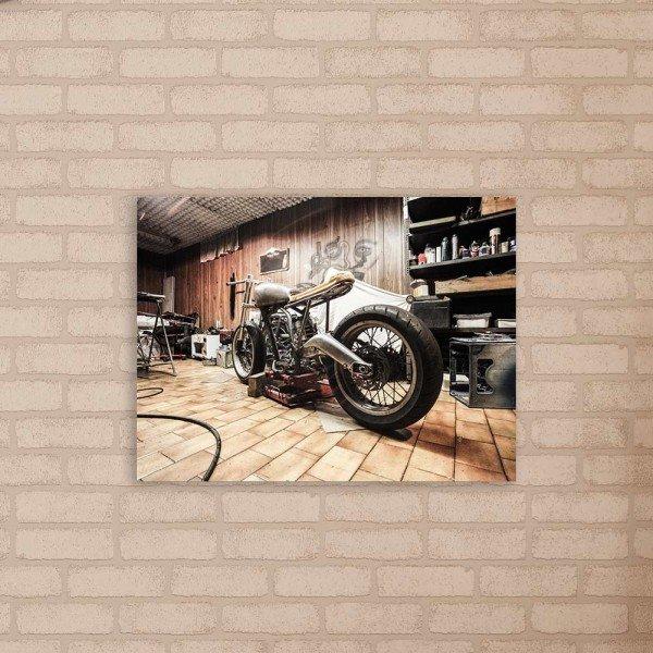 Placa Decorativa em MDF Moto Harley Davidson Antiga