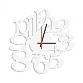 Relógio de Parede Decorativo Premium Números Vazados Branco