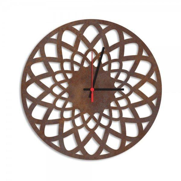 Relógio de Parede Decorativo Premium Mandala Vazado Corten