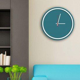 Relógio de Parede Decorativo Premium Minimalista Ágata com Borda Branca em Relevo