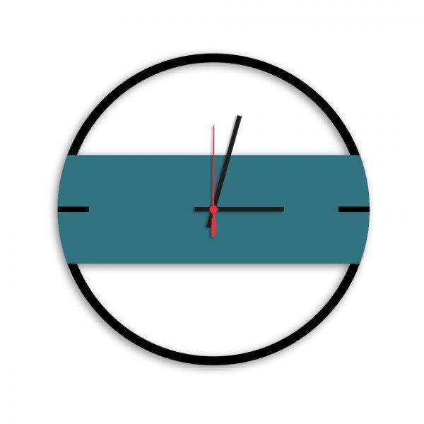 Relógio de Parede Decorativo Premium Slim Preto Ônix com Detalhe Ágata em Relevo