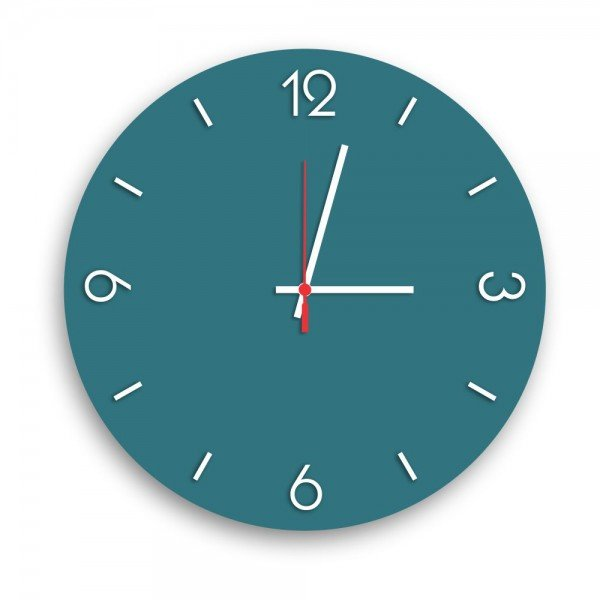 Relógio de Parede Decorativo Premium Ágata com Números em Relevo
