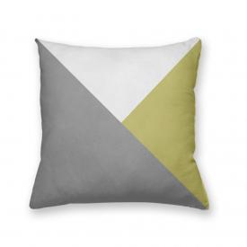 Almofada Decorativa Own Geométrica Cinza e Amarelo