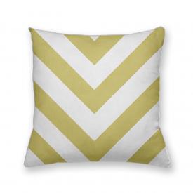 Almofada Decorativa Own Geométrica Chevron Amarelo