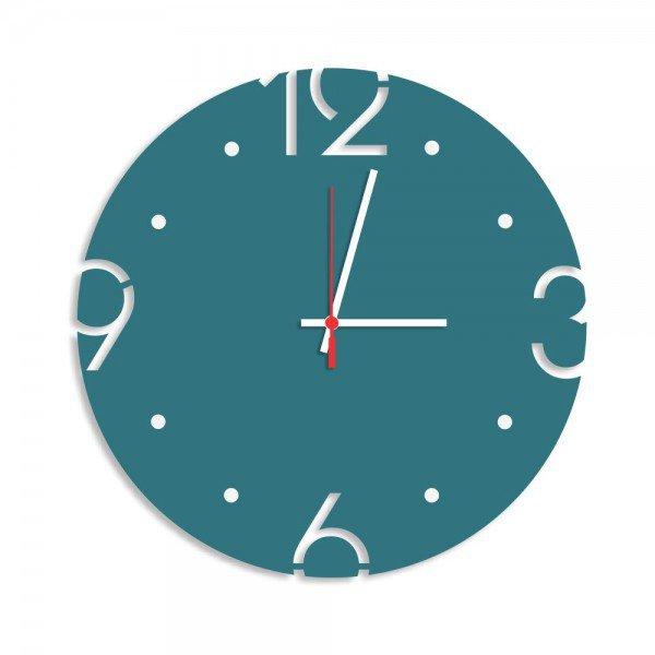 Relógio de Parede Decorativo Premium Ágata com Números Vazados