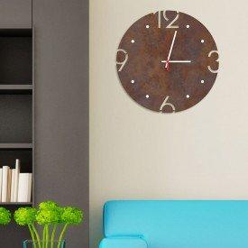 Relógio de Parede Decorativo Premium Corten com Números Vazados