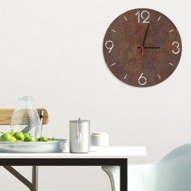 Relógio de Parede Decorativo Premium Números Vazados Corten