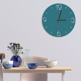 Relógio de Parede Decorativo Premium Números Vazados Ágata
