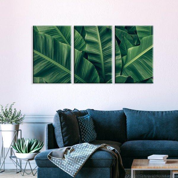 Telas Canvas Folhas Verde Natureza Vibes
