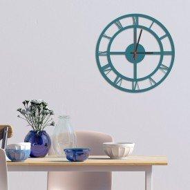 Relógio de Parede Decorativo Premium Números Romanos Vazado Ágata