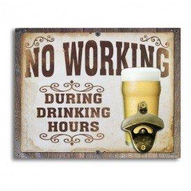 Abridor de Garrafas de Parede No Working During Drinking Hours