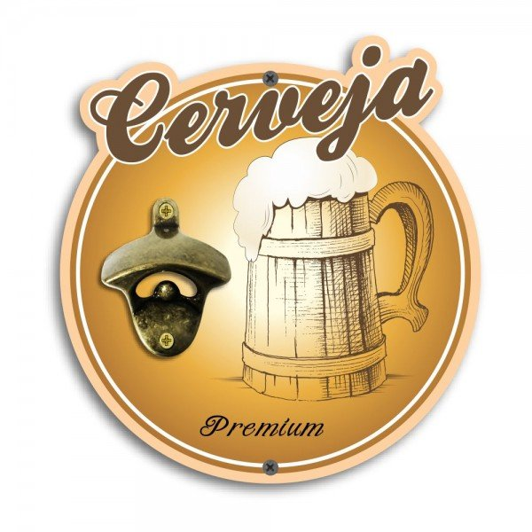 Abridor de Garrafas de Parede Cerveja Premium