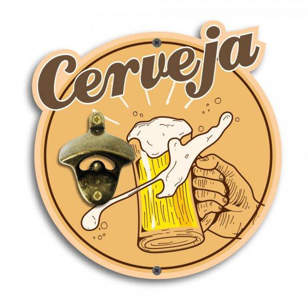 Abridor de Garrafas de Parede Cerveja