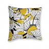 Almofada Decorativa Tropical Amarelo e Branca