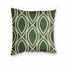 Almofada Decorativa com Estampa Geométrica Verde e Bege