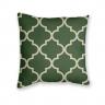 Almofada Decorativa com Estampa Geométrica Verde