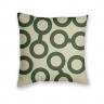 Almofada Decorativa com Estampa Geométrica Bege e Verde
