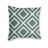 Almofada Decorativa Estampa Geométrica Branca e Verde