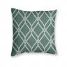Almofada Decorativa Estampa Geométrica Verde e Branca