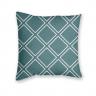 Almofada Decorativa Estampa Geométrica Azul e Branca