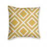 Almofada Decorativa Estampa Geométrica Branca e Amarela