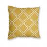 Almofada Decorativa Estampa Geométrica Amarela e Branca