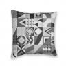 Almofada Decorativa Geométrica Cinza
