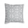 Almofada Decorativa Own Geométrica Branca e Cinza