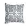 Almofada Decorativa Own Geométrica Cinza e Branca