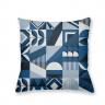 Almofada Decorativa Azul Retrô