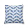 Almofada Decorativa Chevron Branca e Azul