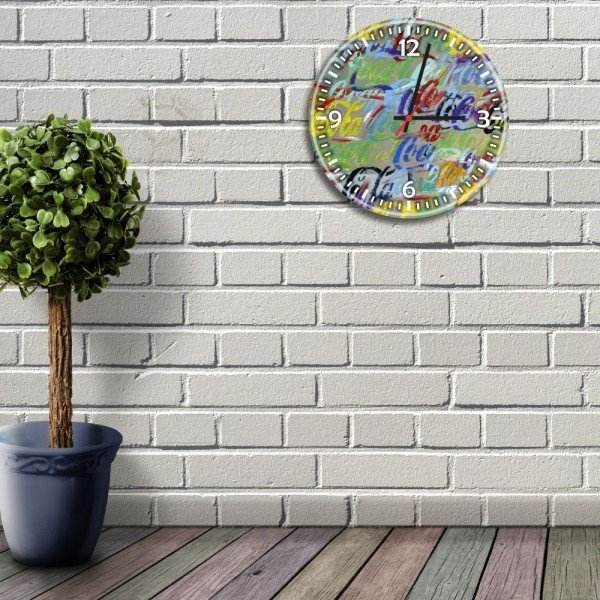 relogio de parede decorativo coca cola colorido relbeb013cf