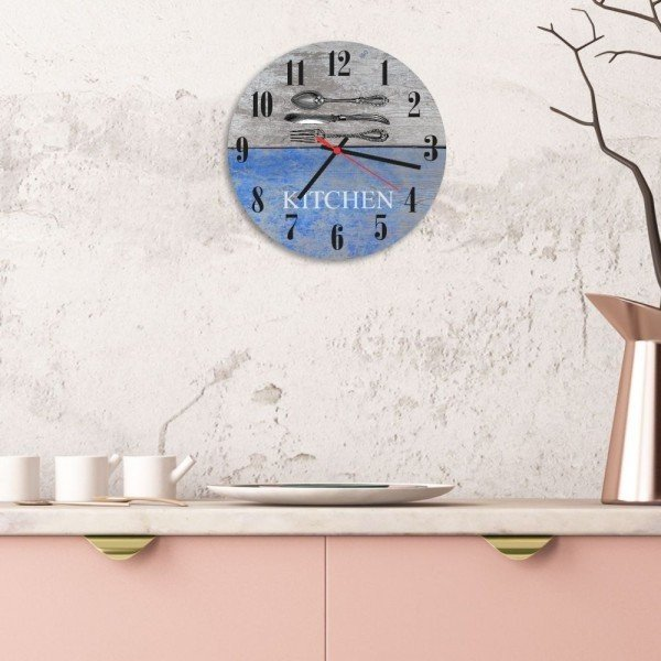 relogio de parede decorativo talheres kitchen relcoz006cf