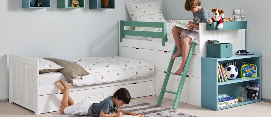 Truques para melhorar um quarto compartilhado entre irmãos.