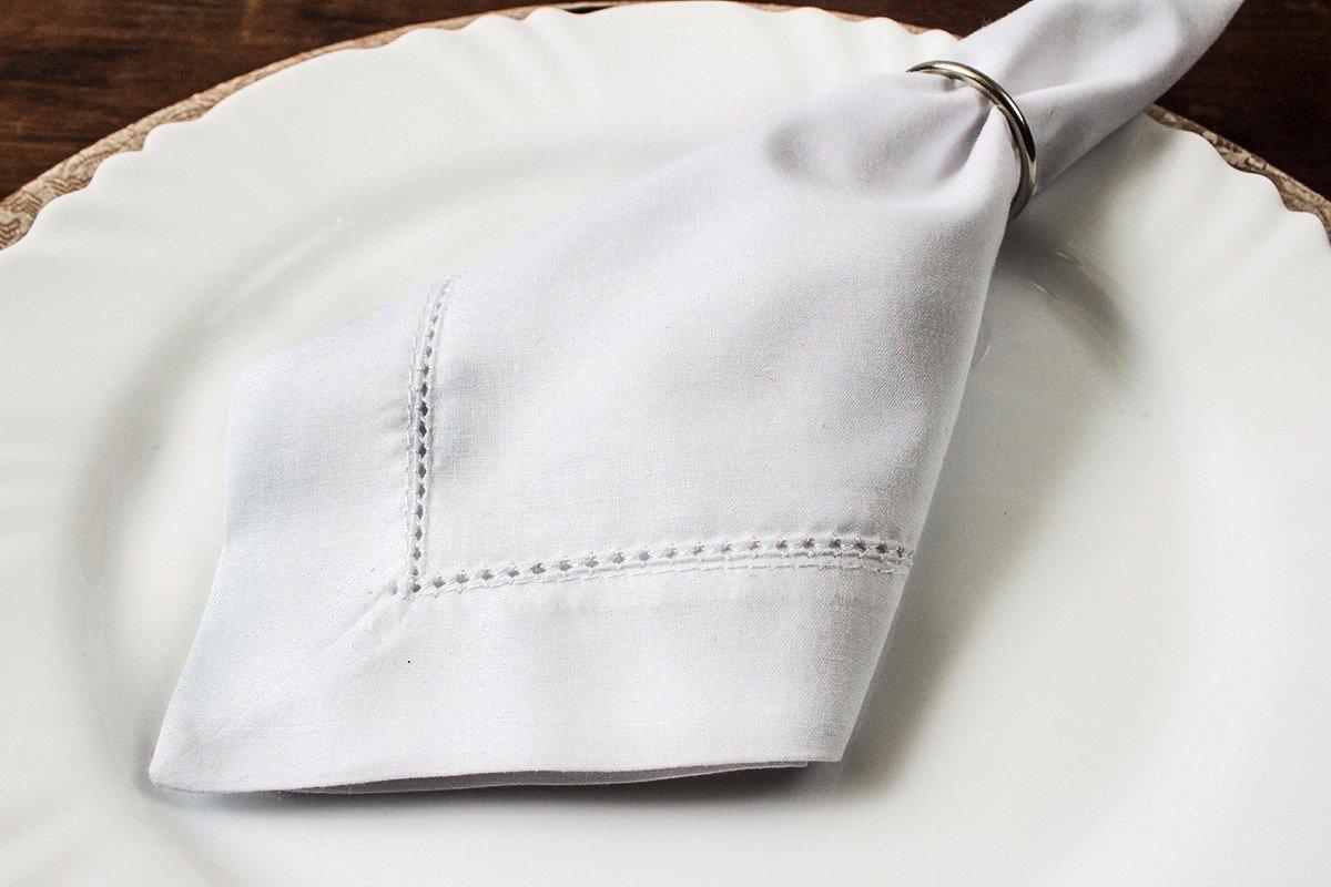 guardanapo de tecido percal prego e martelo