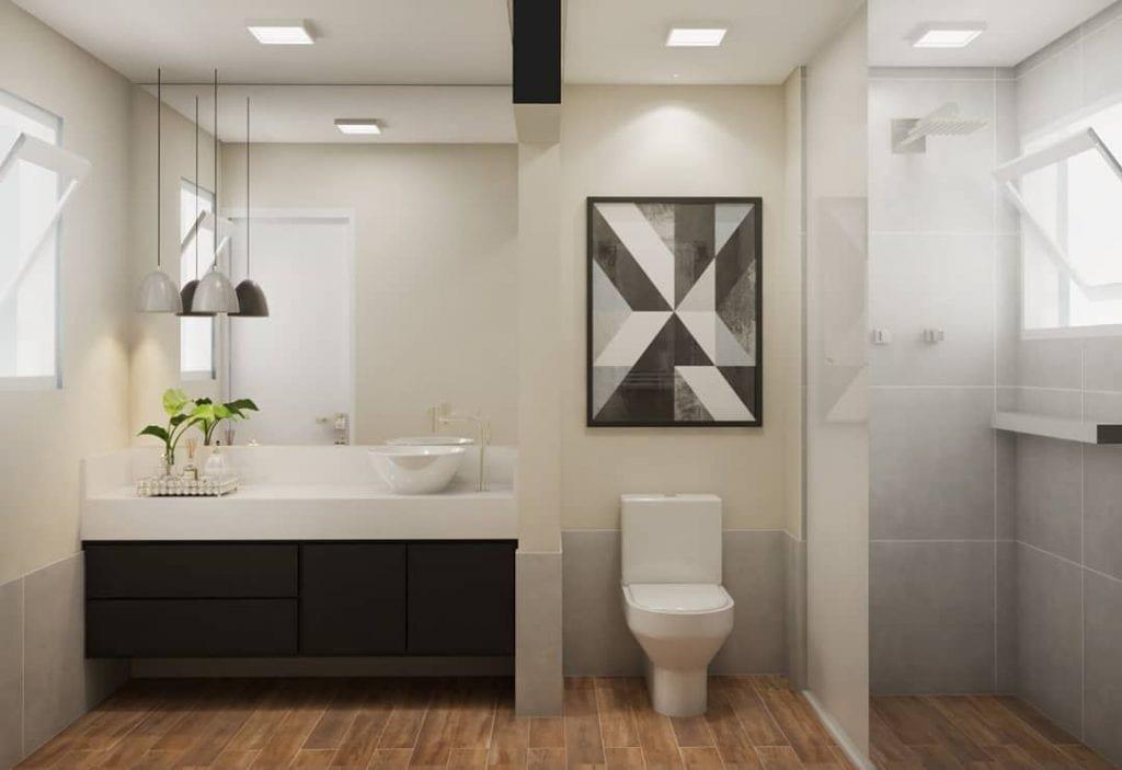 quadro banheiro prego e martelo