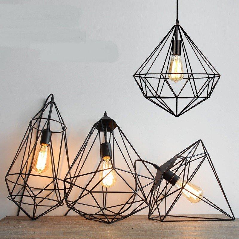 luminaria pingente geometrica prego e martelo