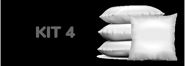 Kit 4 Enchimentos para Almofadas