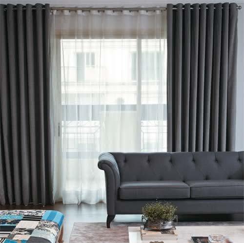 cortina sala de estar prego e martelo